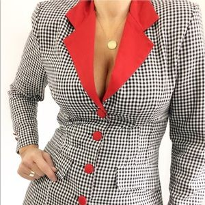 Vintage Checked Preppy Tailored To Fit Blazer